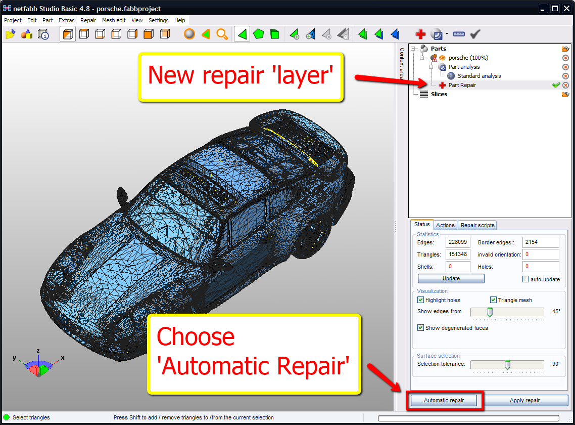 netfabb automatic stl repair