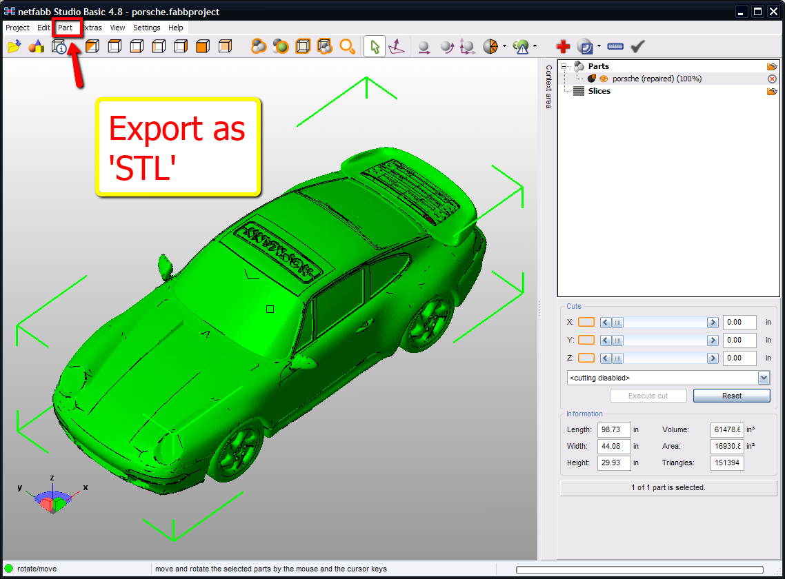 netfabb stl export repair dialog