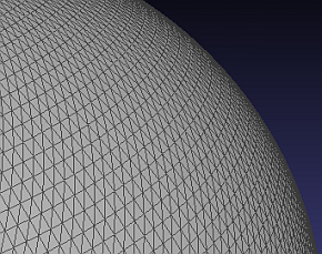 Trinagular mesh for a 10cm sphere