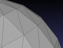 low resolution mesh for sphere